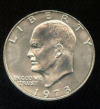 1973-S SILVER EISENHOWER DOLLAR GEM BU (R499) KEY DATE