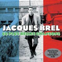 JACQUES BREL - 60 PLUS BELLES CHANSONS 3 CD NEUF