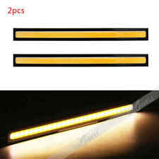 2Pcs Yellow 17cm 12V COB LED DRL Car Fog Daytime Running Driving Light Bar Strip