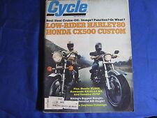 CYCLE MAGAZINE-MAY 1979-HD FXS80-HONDA XL185S-KAW KX125A5-SCOTT BOOT-IT175F