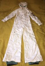 B by Burton Woman's Snowboarding Ski Snow Suit Sz M One Piece Jumpsuit White