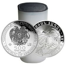 2016 1 oz Silver Armenian Noah's Ark Coin (BU, Lot of 20, Tube)
