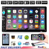 "7"" Inch Car Stereo Radio HD MP5 Player Touch Screen Bluetooth Radio 2Din+Camera"