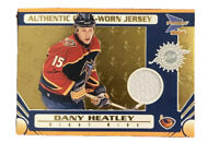 Dany Heatley Player Lot. Game Jersey Atlanta Thrashers Card. 18 Cards