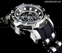 NEW Invicta Men's 50mm Bolt Chronograph BLACK DIAL Stainless Steel 100M Watch !!