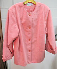"""Ladies """"Bullock Wilshire"""" 4 Button Collarless Jacket """"Ultra Suede"""" Size 16"""