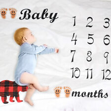 Milestone Blanket - Large Month Baby Blanket for Boy Girl 120*110cm Personalized