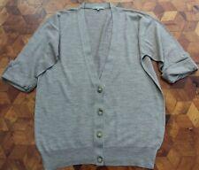 Jigsaw Knitted Wool Cardigan size M 12 UK Brown