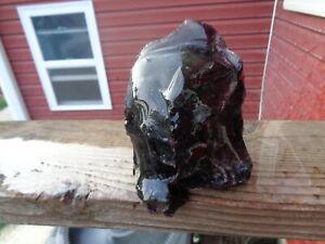 Glass Rock Slag  Clear Purple 2.12 lbs Rocks A34 Landscaping Aquarium