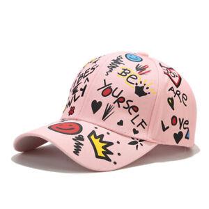 New Unisex Graffiti Fashion Baseball Cap Pink