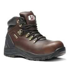 V12 Storm Brown Pull-Up S3 Waterproof Hiker Boot - UK Size 7