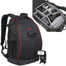 Professional Waterproof DSLR Camera Backpack Laptop Bag Pad For Canon Nikon Sony