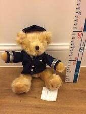 Thompson Holiday Teddy Bear Wearing Find Your Smile Jumper In Pilots Outfit