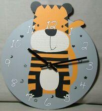 U118 Wanduhr Tiger Uhr für Kinder  (kleine, große und ganz große)