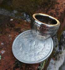 Morgan Silver Dollar Coin Ring 'eagle' Silver Plated Handmade In Sizes 8-16
