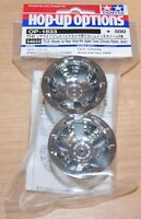 Tamiya 54833 T3-01 Wheels for Rear Wide Pin Spike Tires (Chrome Plated, 2 Pcs.)