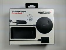 Verizon Wireless Charger Combo Pack OEM - Black for iPhone Android Qi Charging