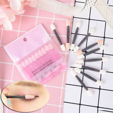 2set/20pcs sponge double ended make up supplies portable eye shadow brushes Fm