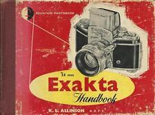 EXAKTA Camera Handbook by K.L. Allinson, Fountain Press Hardcover c.1956 (IN472)