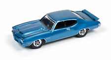 1/64 JOHNNY LIGHTNING MUSCLE SERIES 1 1971 Pontiac GTO in Lucerne Blue
