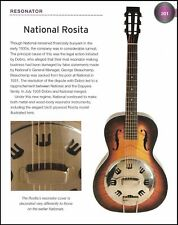 The National Rosita Resonator + National Cosmopolitan guitars 6 x 8 article