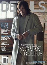 DETAILS Magazine November 2015 Norman Reedus The Walking Dead NEW
