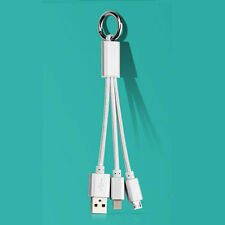 3in1 USB Mobile Power Cable Universal Cell Phone Multi Data Charge Cable Sliver