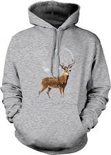 Deer Buck Moon Silhouette Wilderness Spirit Animal Nature Hoodie Pullover