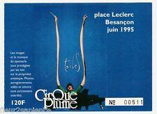 billet spectacle Cirque Plume Besançon 1995