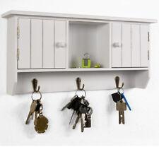 Schlüsselkasten Holz Schlüsselbrett Schlüsselboard Schlüsselschrank Schrank Weiß