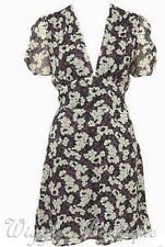 Topshop Polyester V-Neck Floral Dresses for Women