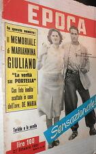 EPOCA 27 Ottobre 1951 Memoriale Bandito Salvatore Giuliano Suez Peters Rommel di