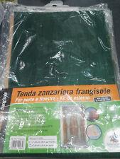 Tenda zanzariera 150x250cm frangisole verde per porta insetti zanzare mosche pvc