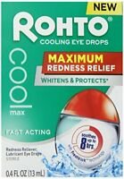 3 Pack Rohto Cooling Eye Drops Maximum Redness Relief Lubricates 0.4 Oz Each