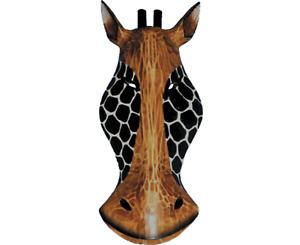 Giraffe Mask Wooden Hand Carved Wall Art Fair Trade Animal Wall Hanging 3 Sizes