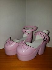 1/3 BJD High Heeled Pink Lolita Shoes