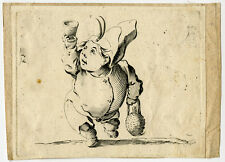 Antique Print-GNOME-WINE-JUG-GLASS-Callot-17th. C.