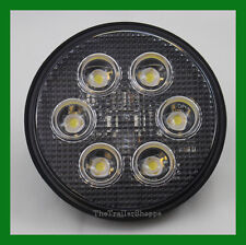 "Heavy Duty 6 LED 4"" Round Work Light Spot flood Back Up 700 Lumens 12/24V"