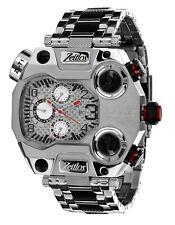Zeitlos ZL-T1 Reloj de hombre BEASTMODUS acero inox. : Pulsera Plata Calendario