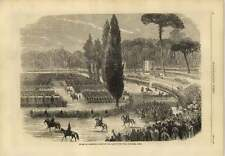 1869 Review Of Pontifical Troops Park Of The Villa Borghese Rome