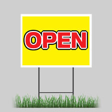 18x24 New Business Grand Opening Yard Sign With Stake Outdoor Coroplast