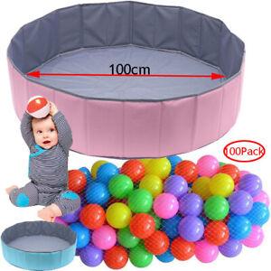 Ocean Ball Pit Folding Ball Pool Pop up Playpen Round Baby Play Pool | 100 Balls