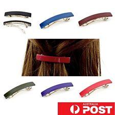 2pc/ Glossy Plastic Barrette 4cm Small Hairclip Hair Pin Clasp Clip Colour AU