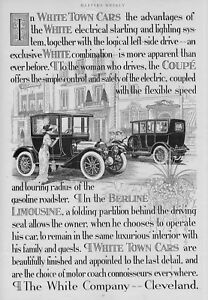 WHITE TOWN CARS COMPANY OF CLEVELAND THE COUPE BERLINE LIMOUSINE ADVERTISEMENT