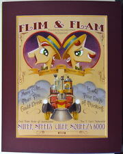 MY LITTLE PONY - FLIM & FLAM POSTER Professionally Matted SDCC Exclusive 2014