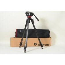 Manfrotto video set-trípode 553 + mvh502a fotográfica + bolsa
