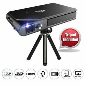 EUG WiFi Pico DLP Projector 3D Movie 1080P Full HD Home Cinema Airplay Trip HDMI