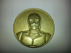 """Star Wars C3PO 1 7/8"""""""" Diameter Coin!  2005 CA Lottery Limited Edition Promo!"""