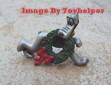Disney Pluto's Christmas Wreath Hudson Fine Pewter #5391 RARE Hard to Find