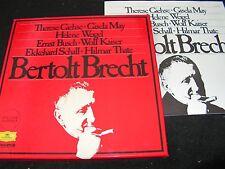 BERTOLT BRECHT Therese Giehse, Gisela May.../7LP BOX DEUTSCHE GRAMMOPHON 2755005